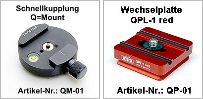 Schnellkupplung+Platte